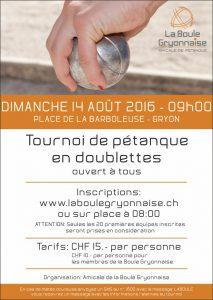 Affiche Tournoi AOUT